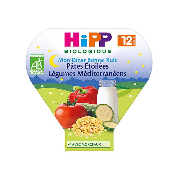 Hipp Bio Mon Dîner Bonne Nuit Bio Pâtes Etoilées Légumes Méditerranéens +12m 230g