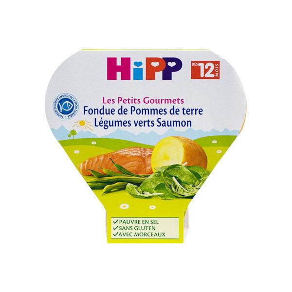 Hipp Bio Les Petits Gourmets Assiette Fondue Pommes de Terre Légumes Verts Saumon +12m 230g