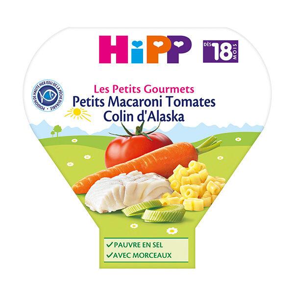 Hipp Bio Les Petits Gourmets Assiette Petits Macaroni Tomates Colin d'Alaska +18m 260g