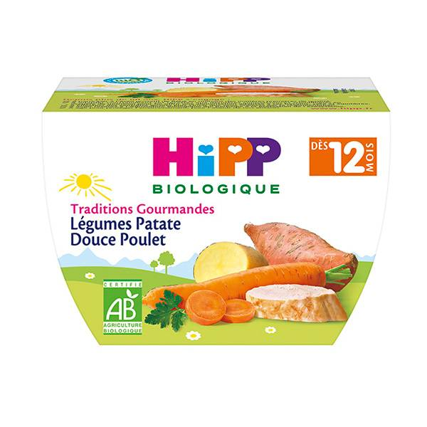 Hipp Bio Traditions Gourmandes Bol Légumes Patate Douce Poulet +12m 220g