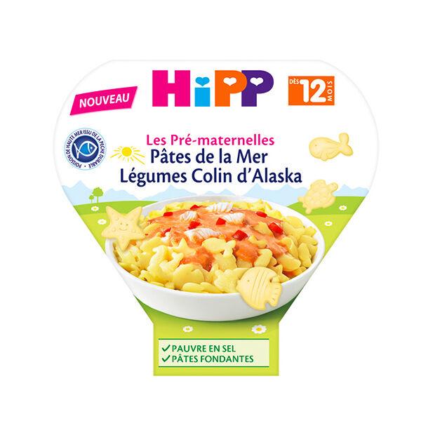 Hipp Bio Les Pré-Maternelles Assiette Pâtes de la Mer Colin d'Alaska +12m 230g