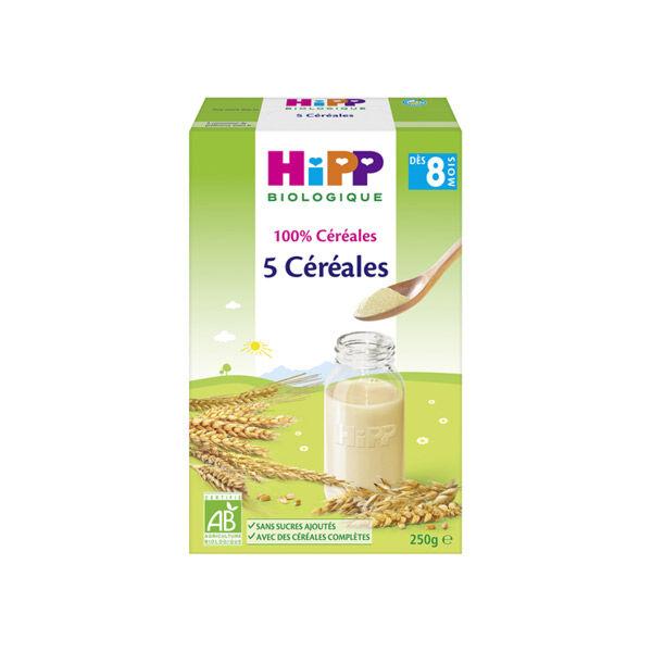 Hipp Bio 100% Céréales 5 Céréales +8m 250g
