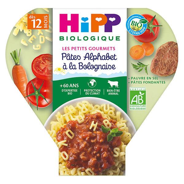 Hipp Bio Les Petits Gourmets Assiette Pâtes Alphabet à la Bolognaise +12m 230g