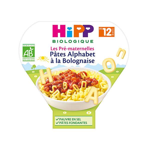 Hipp Bio Les Pré-Maternelles Assiette Pâtes Alphabet à la Bolognaise +12m 230g