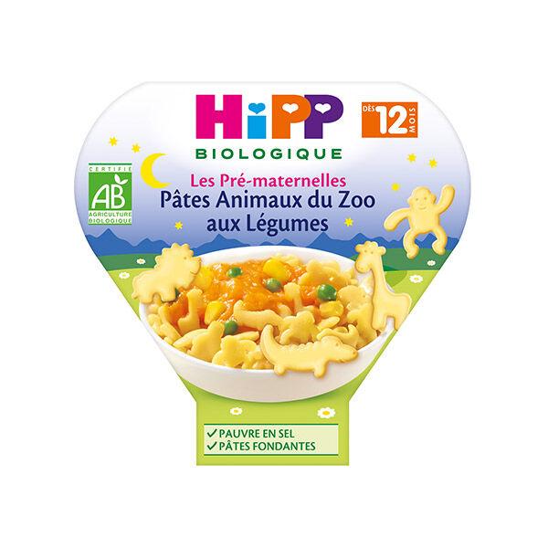 Hipp Bio Les Pré-Maternelles Assiette Pâtes Animaux du Zoo aux Légumes +12m 230g
