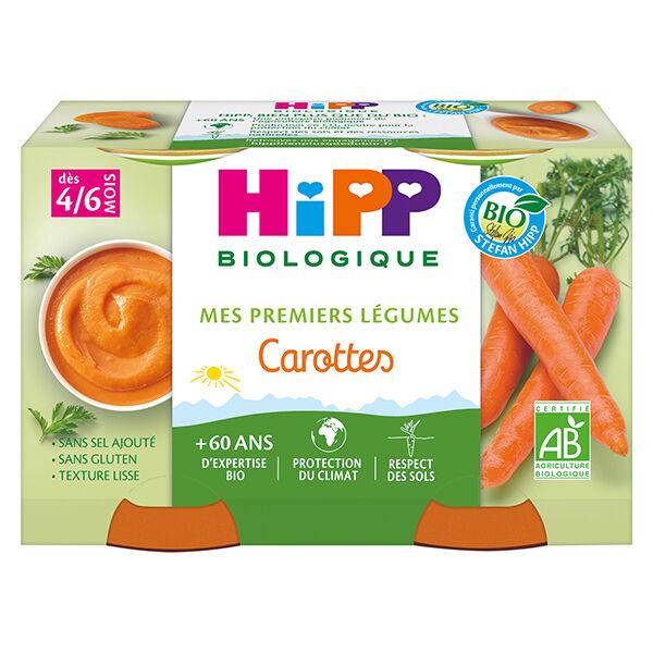 Hipp Bio Mes Premiers Légumes Pot Carottes +4m 2 x 125g