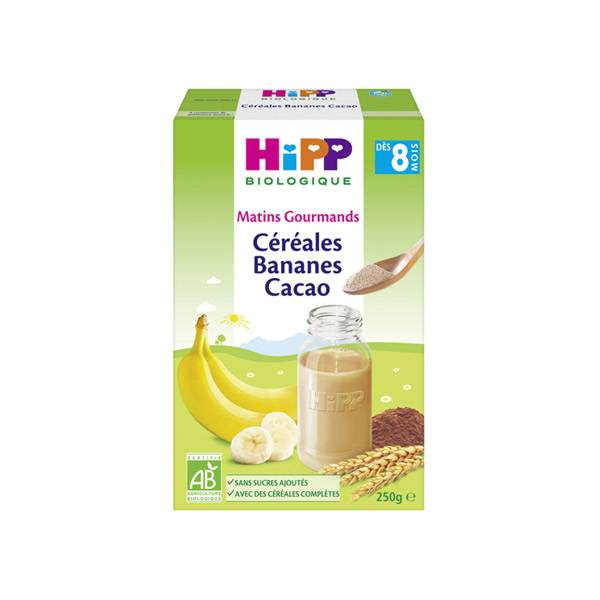 Hipp Bio Céréales Bananes Cacao +8m 250g