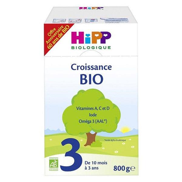 Hipp Croissance 3ième Age Bio Dès 10 mois 800g