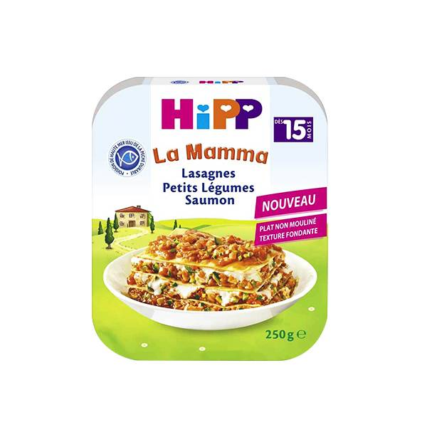 Hipp Bio La Mamma Bio Lasagnes Petits Légumes Saumon +15m 250g