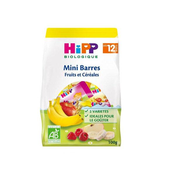 Hipp Bio Mini Barres Fruits et Céréales +12m 100g