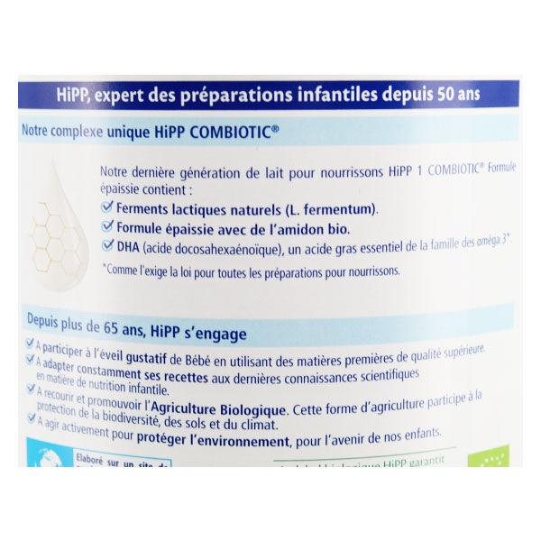 Hipp Lait 1 Combiotic Formule Épaissie 800g