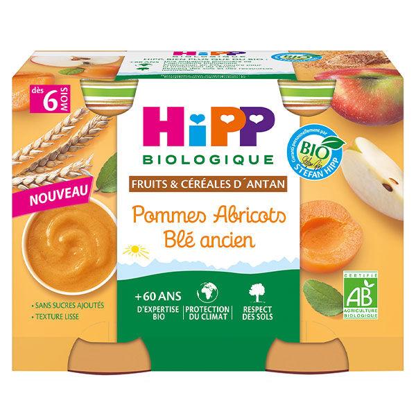 Hipp Fruits et Céréales Pommes Abricots Blé Ancien +6m Pot 2 x 190g