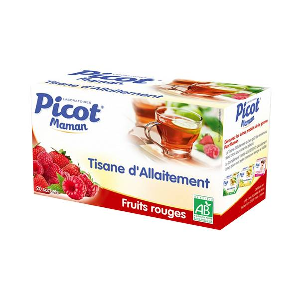 Picot Maman Tisane d'Allaitement Bio Fruits Rouges 20 sachets