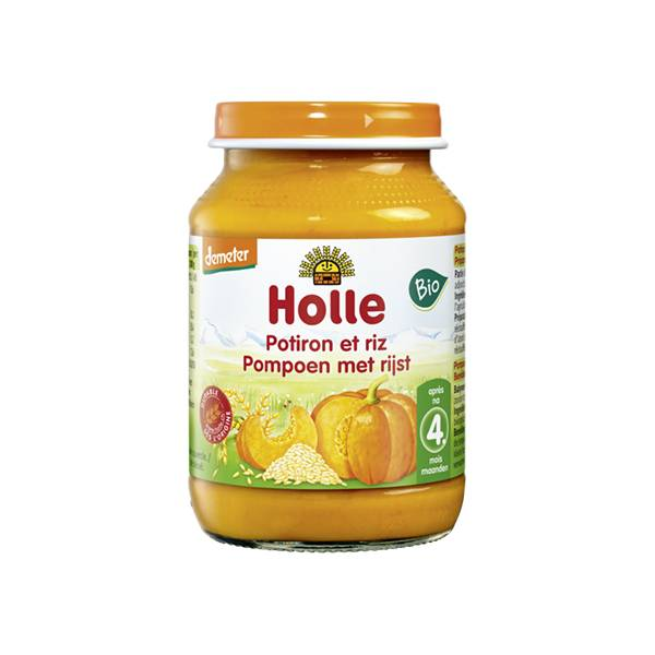 Holle Petit Pot Potiron Riz Bio +4m 190g