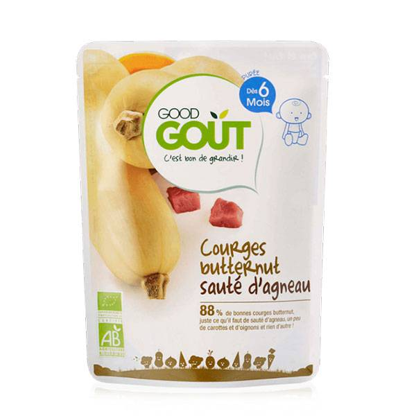 Good Goût Plat Courges Butternut Sauté d'Agneau +6m Bio 190g