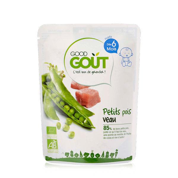 Good Goût Plat Petits Pois Veau +6m Bio 190g