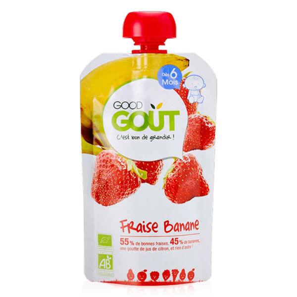 Good Goût Gourde Compote de Fruits Fraise Banane +6m Bio 120g