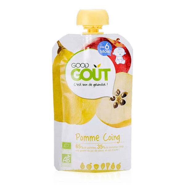 Good Goût Gourde Compote de Fruits Pomme Coing +6m Bio 120g