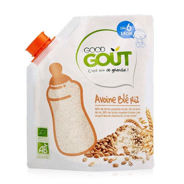 Good Goût Céréales en Poudre Avoine Blé Riz +6m Bio 200g