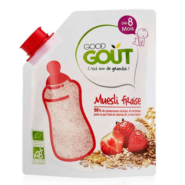 Good Goût Céréales en Poudre Muesli Fraise +8m Bio 200g