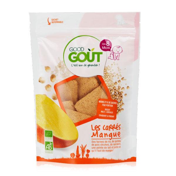 Good Goût Biscuits Carrés Mangue +6m Bio 50g