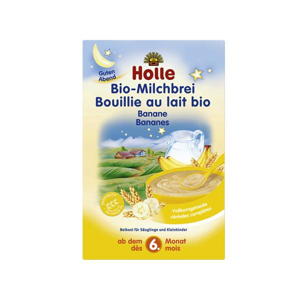 Holle Bouillie au Lait Banane Bio +6m 250g