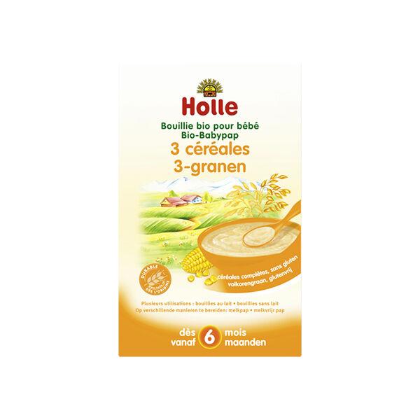 Holle Bouillie 3 Céréales Sans Gluten Bio +6m 250g
