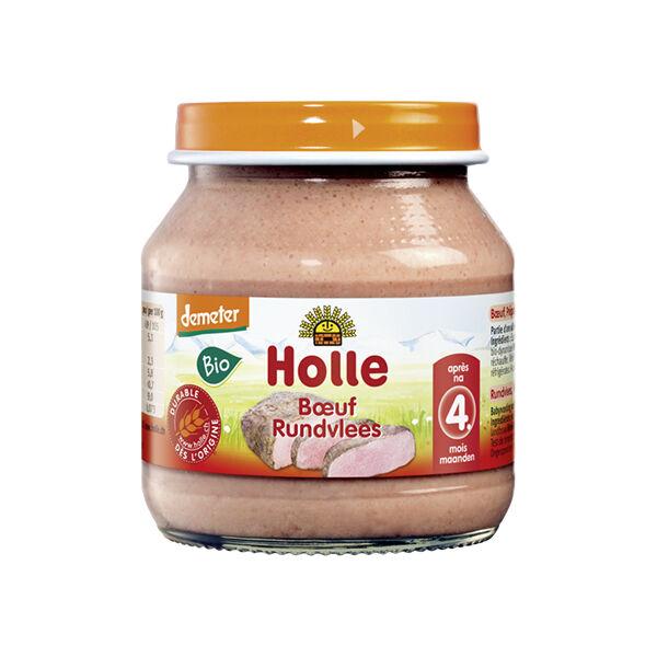 Holle Petit Pot Boeuf Bio +4m 125g