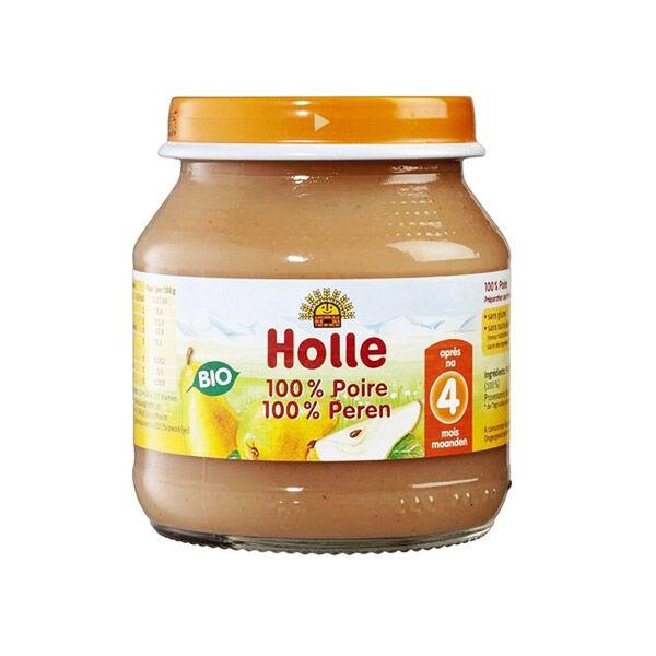 Holle Petit Pot Poire Bio +4m 125g