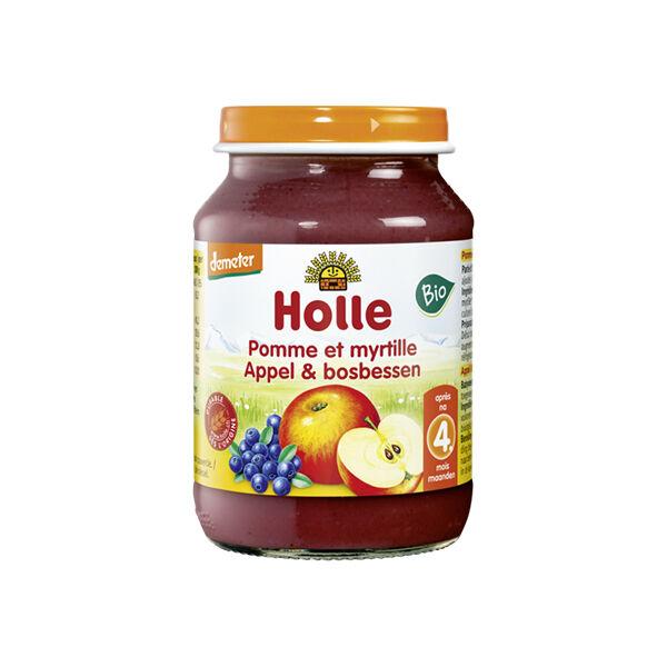 Holle Petit Pot Pomme Myrtille Bio +4m 190g