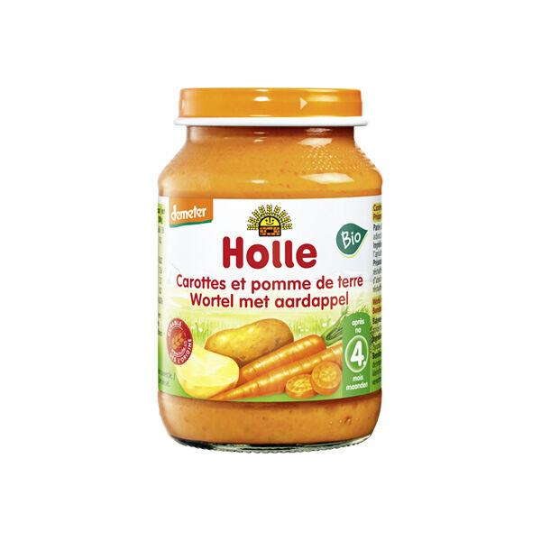 Holle Petit Pot Carottes Pomme de Terre Bio +4m 190g