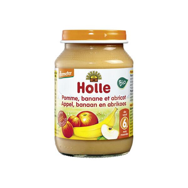 Holle Petit Pot Pomme Banane Abricot Bio +6m 190g
