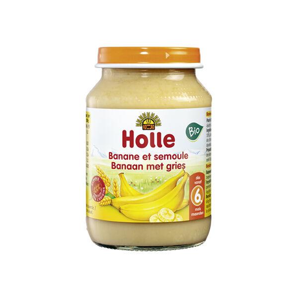 Holle Petit Pot Banane Semoule Bio +6m 190g