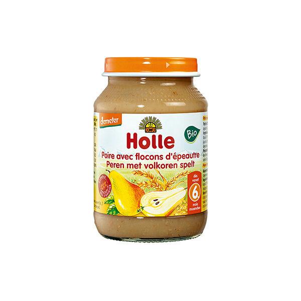 Holle Petit Pot Poire Avec Flocons d'Epeautre Bio +6m 190g