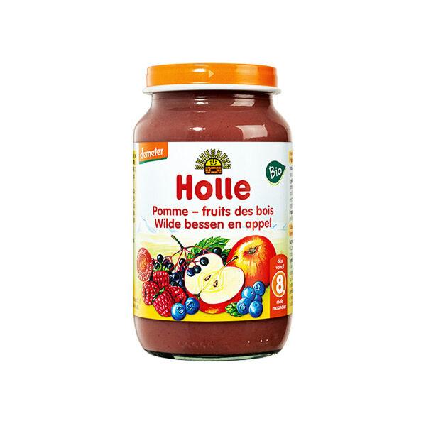 Holle Petit Pot Pomme Fruits des Bois Bio +8m 220g