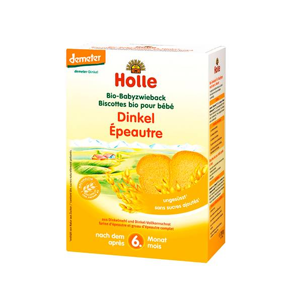 Holle Biscottes Epeautre Bio +6m 2 x 100g