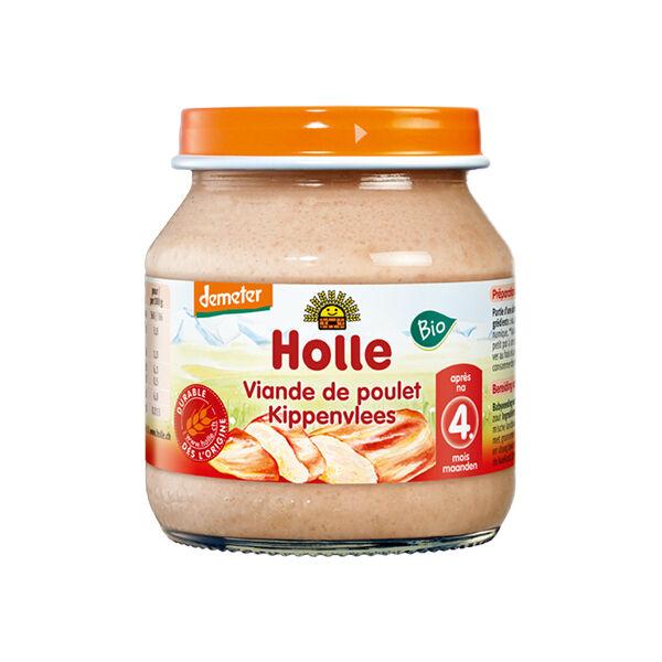 Holle Petit Pot Viande de Poulet Bio +4m 125g