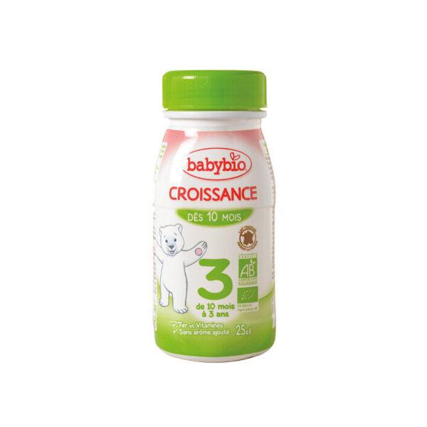 Babybio Croissance Lait Liquide 3ème Âge Bio 25cl