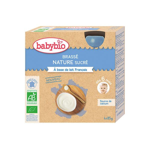 Babybio Mes Brassés Gourde Lactée Nature Sucré +6m Bio 85g