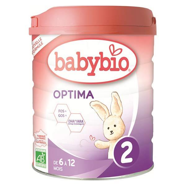 Babybio Lait Optima Lait de Vache 2ème Âge Bio 800g