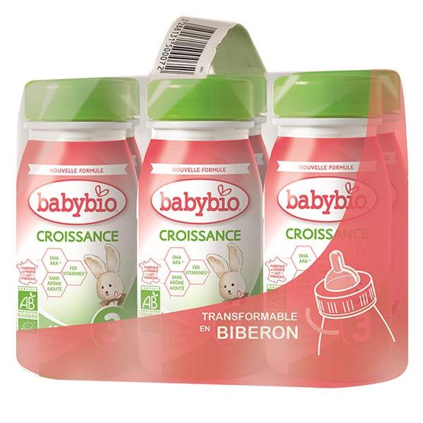 Babybio Croissance Lait Liquide 3ème Âge Bio 6 x 25cl