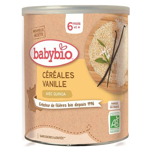 Babybio Céréales Pot Vanille Quinoa +6m Bio 220g