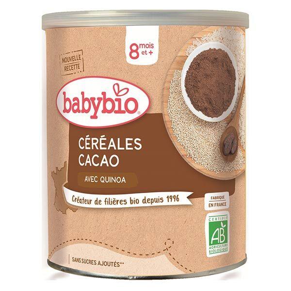 Babybio Céréales Pot Cacao Quinoa +8m Bio 220g