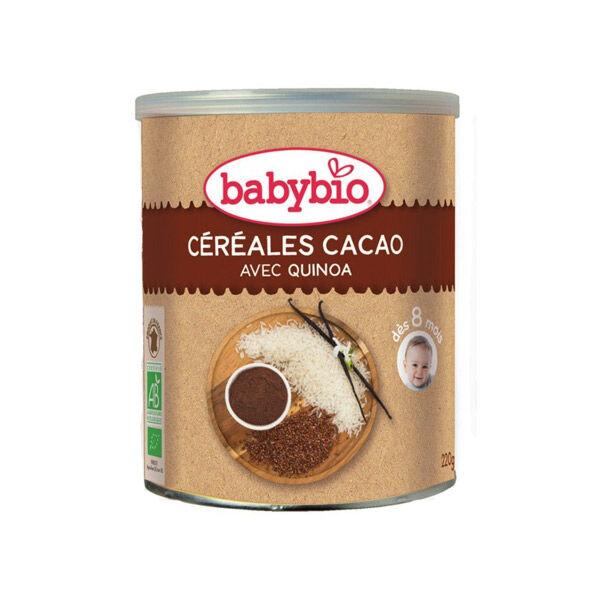 Babybio Céréales Cacao avec Quinoa dès 8 mois 220g