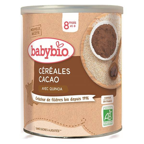 Babybio Mes Céréales Pot Cacao Quinoa +8m Bio 220g