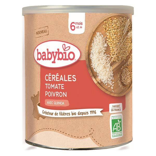 Babybio Céréales Pot Tomate Poivron Quinoa +6m Bio 220g