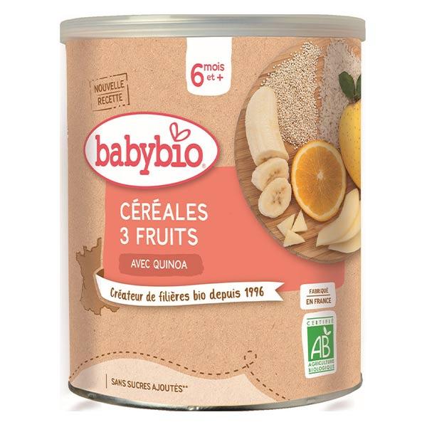 Babybio Mes Céréales Pot 3 Fruits Quinoa +6m Bio 220g