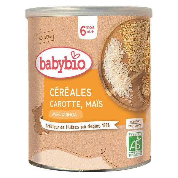 Babybio Mes Céréales Pot Carotte Maïs +6m Bio 220g