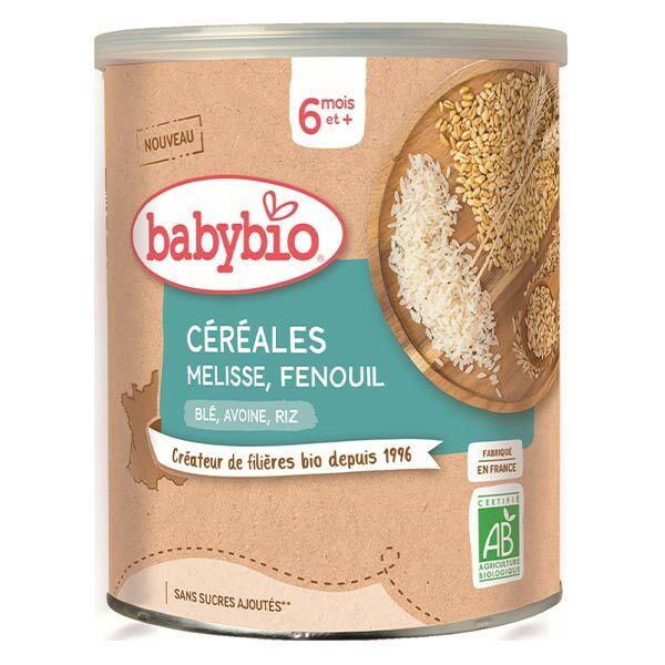 Babybio Céréales Pot Mélisse Fenouil Blé Avoine Riz +6m Bio 220g