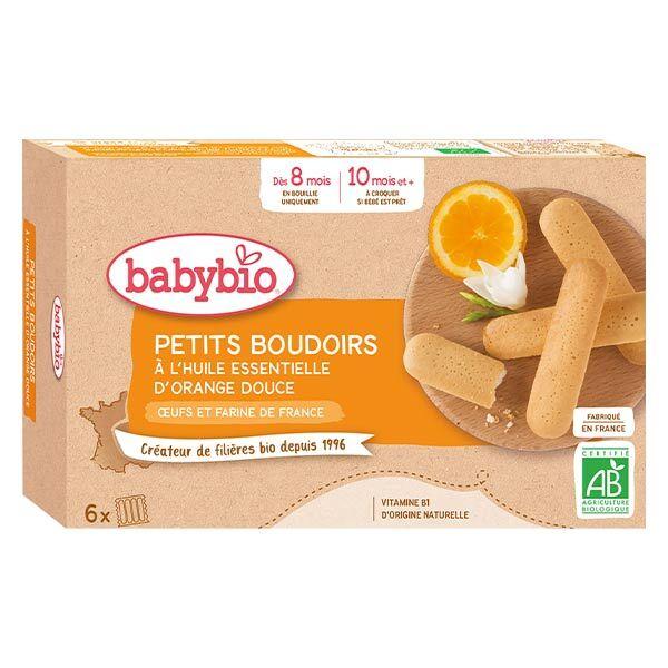 Babybio Biscuits Boudoirs à l'Huile Essentielle d'Orange Douce +8m Bio 120g
